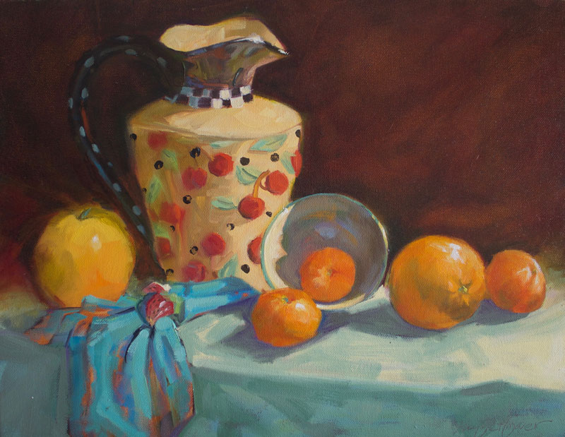 Kay-Zetlmaier-Cherries-and-Oranges-14x18-oil