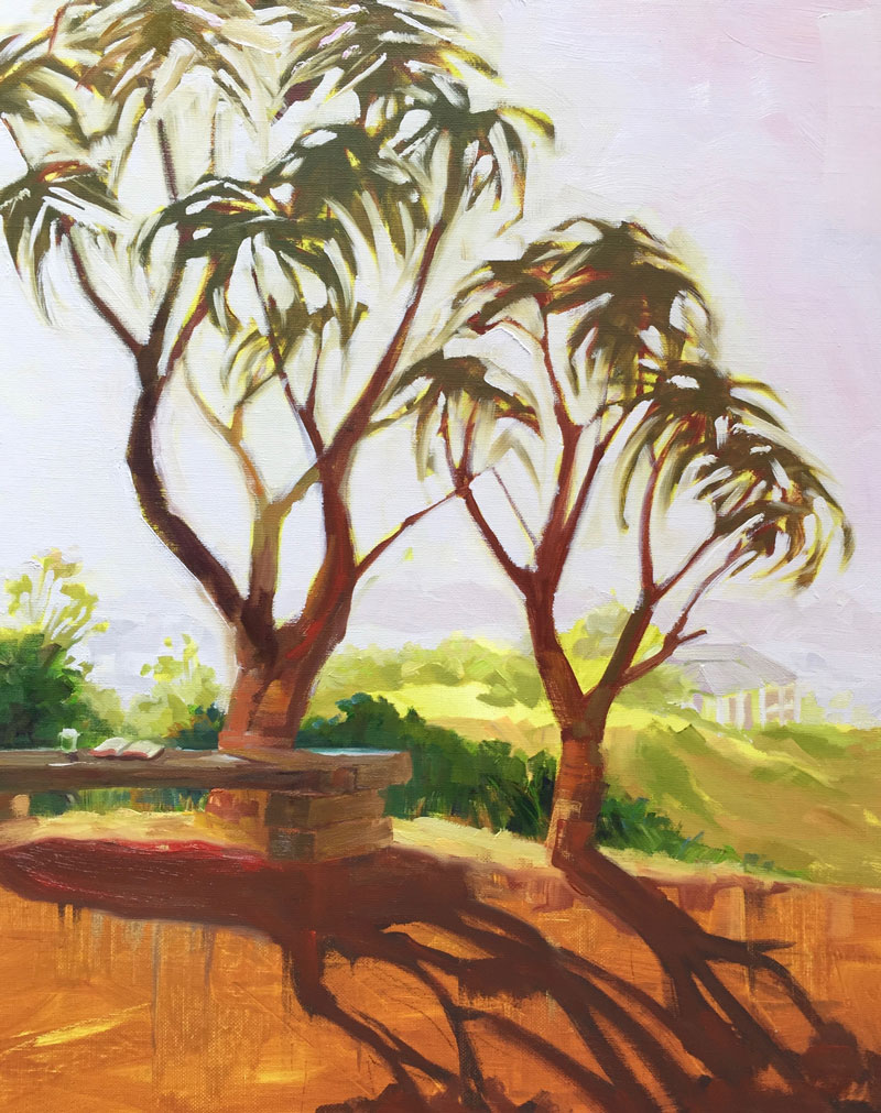Kay-Zetlmaier-Giant-Aloes-at-Ventura Botanical Gardens-24x18-oil