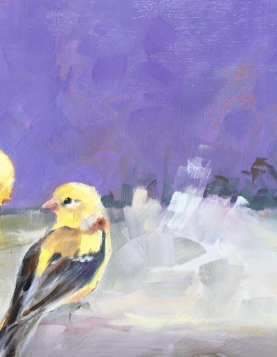 Kay-Zetlmaier-Backyard-Finches-6x12-oil