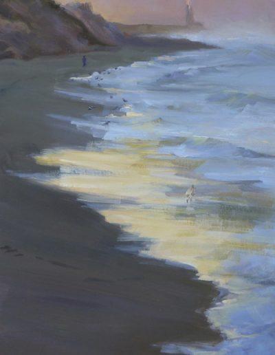 Kay-Zetlmaier-Early-Morning-Brighton-Beach-15x8-oil